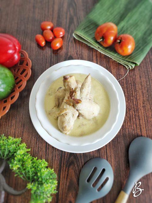 opor ayam putih kental