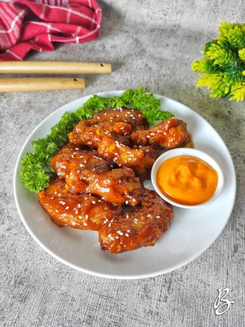 spicy chicken wings richeese mudah