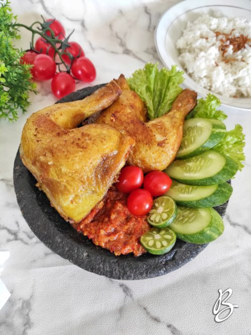pecel ayam istimewa