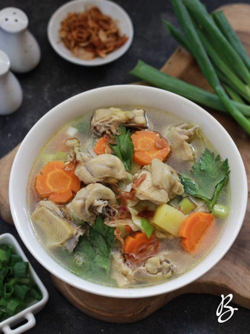 sayur sop ayam mudah